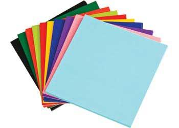 thin cardboard sheets