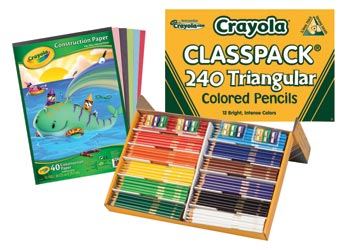 Crayola Triangular Pencils 240 + bonus pack