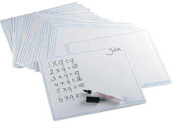 Write and Wipe Boards Blank – Pack of 30