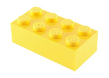LEGO – BRICK 2X4 Bright yellow PK10