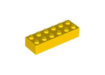 LEGO – BRICK 2X6 Bright yellow PK10