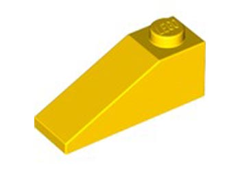 LEGO – ROOF TILE 1X3-25° Bright yellow PK10