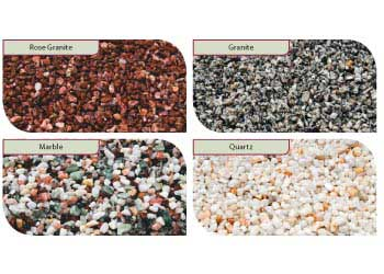 Assorted Crushed Natural Stones – Set A – 4 x 1 litre jars