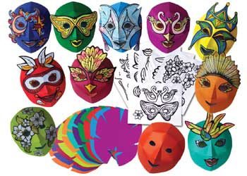 Mardi Gras Colour Diffusing Masks – Set of 30