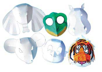 Wild Animal 3D Masks – Pack of 30