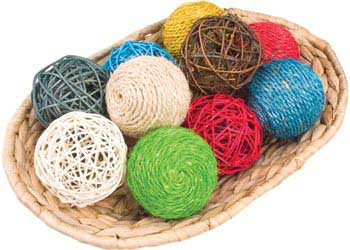 Assorted Woven Balls Set of 10