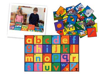 Alphabet Mat and Tiles Set