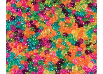 Mini Pony Beads Jelly Sparkle – Pack of 1000
