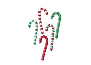 Christmas Candy Cane Bead Kit – Makes 16