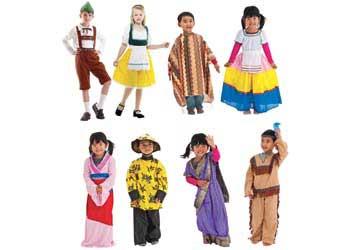 Multicultural Traditional Dress Up Set – 8 Dress ups