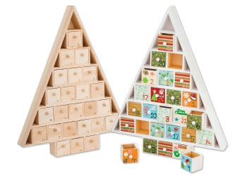 Wooden Advent Calendar With Drawers Amp Numbers Mta Catalogue