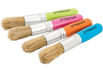 creatistics baby stubby paint brushes pack of 24 mta