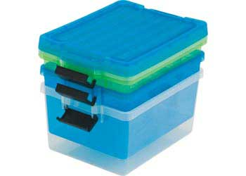 container with lid 15 litre neon green plastic storage containers