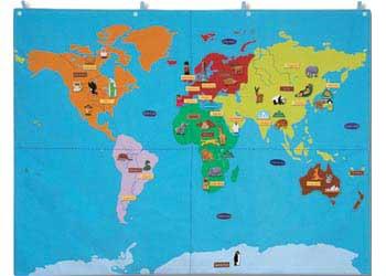 World Wall Map Cloth 90 X 120cm Maps
