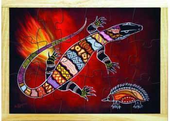 Goanna Aboriginal Puzzle 12 Pieces Mta Catalogue