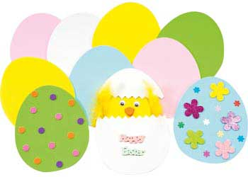 Large Foam Easter Eggs Pack Of 10 Mta Catalogue