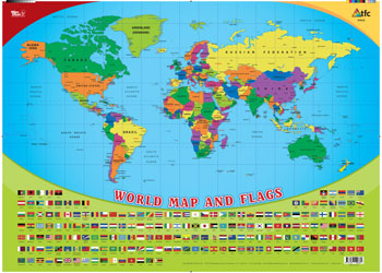 Map Of The World Flags Chart Maps