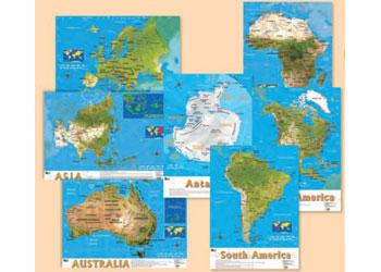 South America Bulletin Board Maps