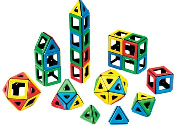 Magnetic Polydron – Basics Shape Set – 108 pieces